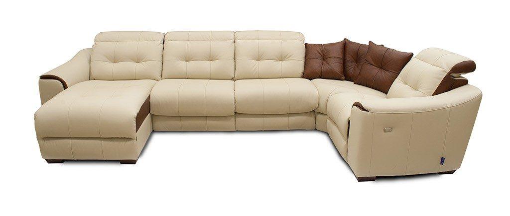 Модульный кожаный диван Техас